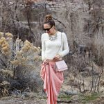Maxi skirt and a crop sweater