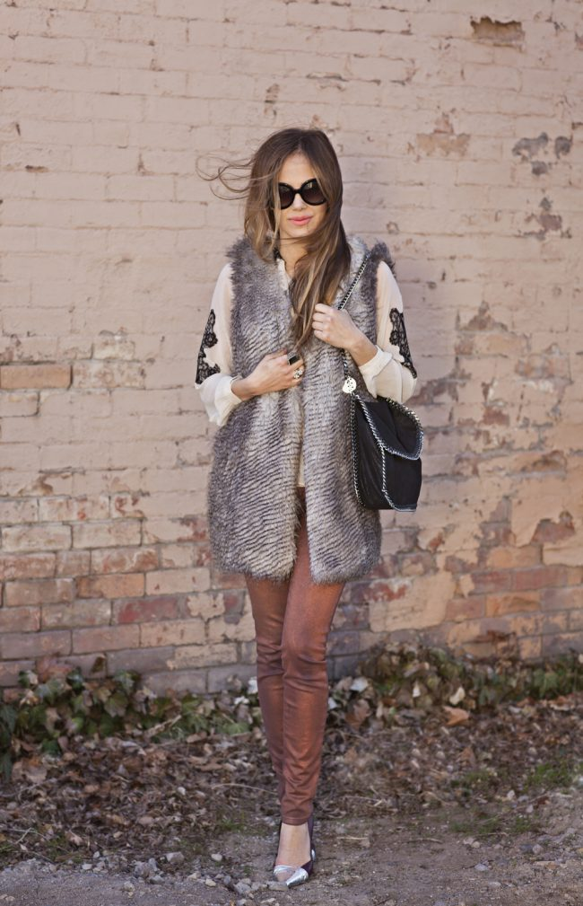 Faux fur vest doesn't have to be an inVESTment ;)