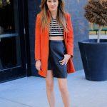 The Asymmetrical Leather Skirt