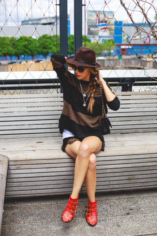 black lace shorts black gold hardware chanel