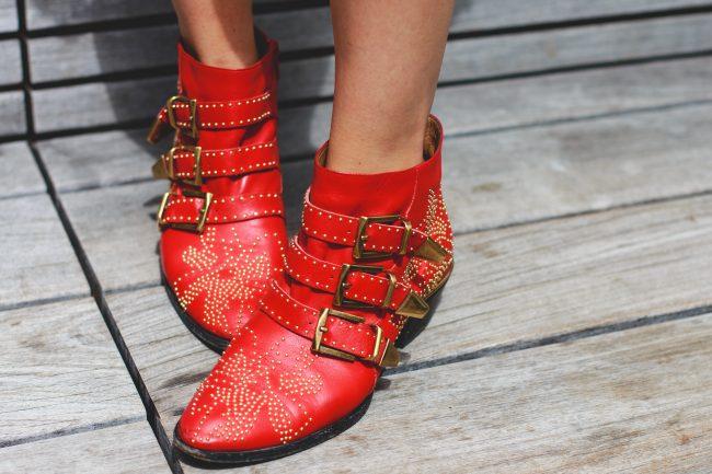 red Chloe Susanna Boots