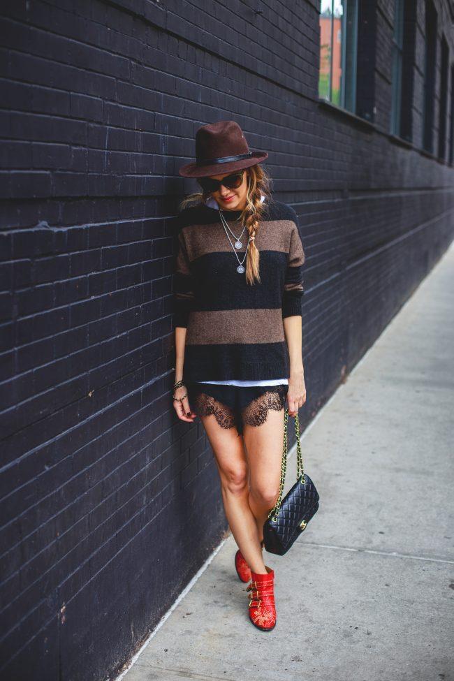 NYC Street Look Brown Fedora