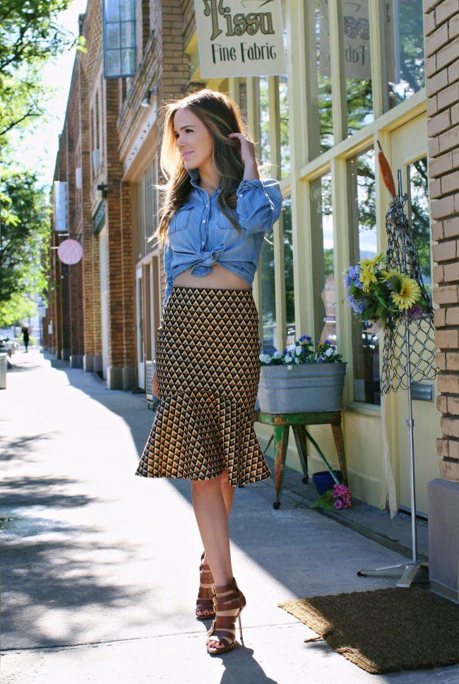 Shabby Apple Sands Skirt