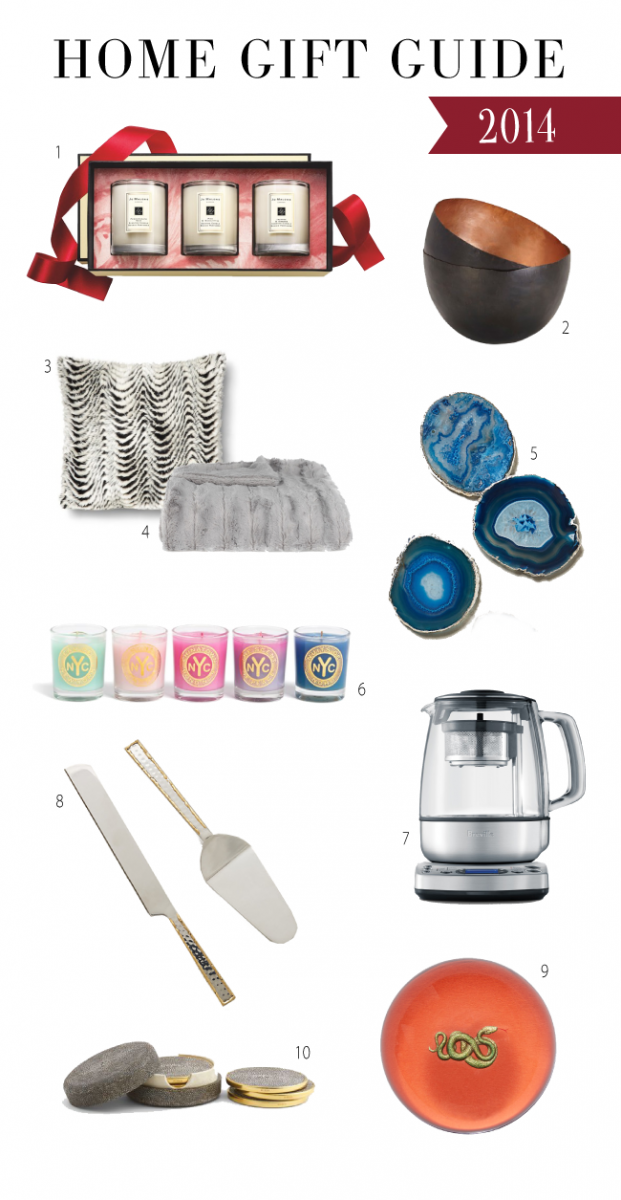 holiday gift guide for the home 2014 bond no 9 jo malone candles set tea maker anthropologie