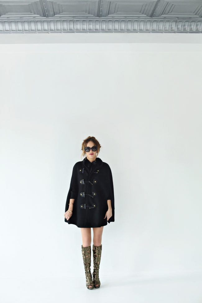 Angie Wilson Fashion Blogger Rachel Zoe Toggle Cape