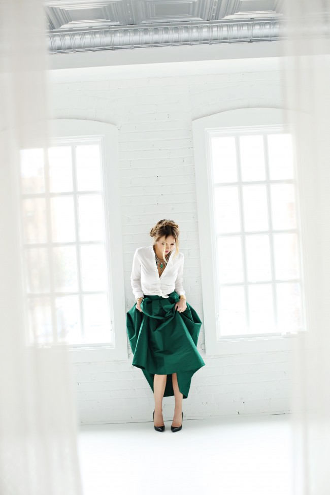chic wish emerald ball skirt the fashion fuse