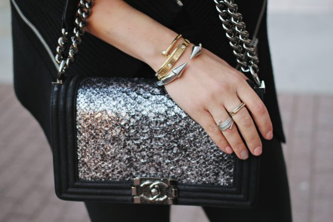 Chanel Python Boy Bag_Cartier love Bracelet