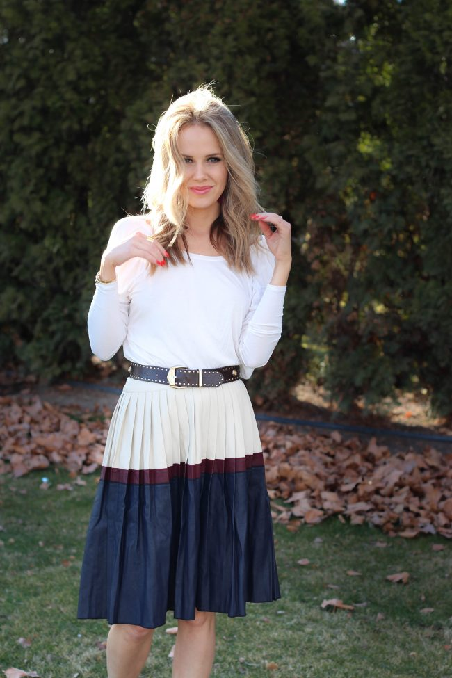 pleats and pleated skirt