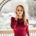 Off the Shoulder Red Lace