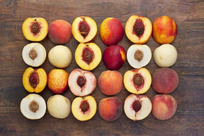 Peaches, white peaches and nectarines
