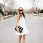 White Tuxedo Mini Dress for Spring
