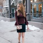 Burgundy Bell Sleeve Top under Thirty Dollars