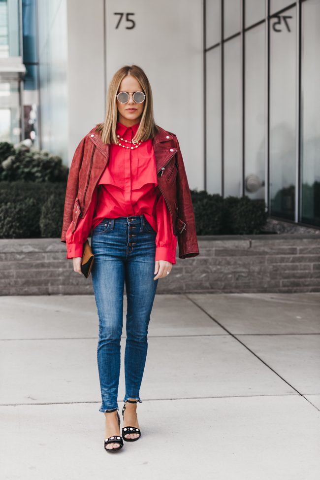 Easy to wear red statement top you need
