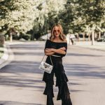 Fall Street Style Black Layered Ruffle Pants