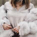 Silver Bells Faux Fur and Metallic Sweatshirt under two hundred dollars