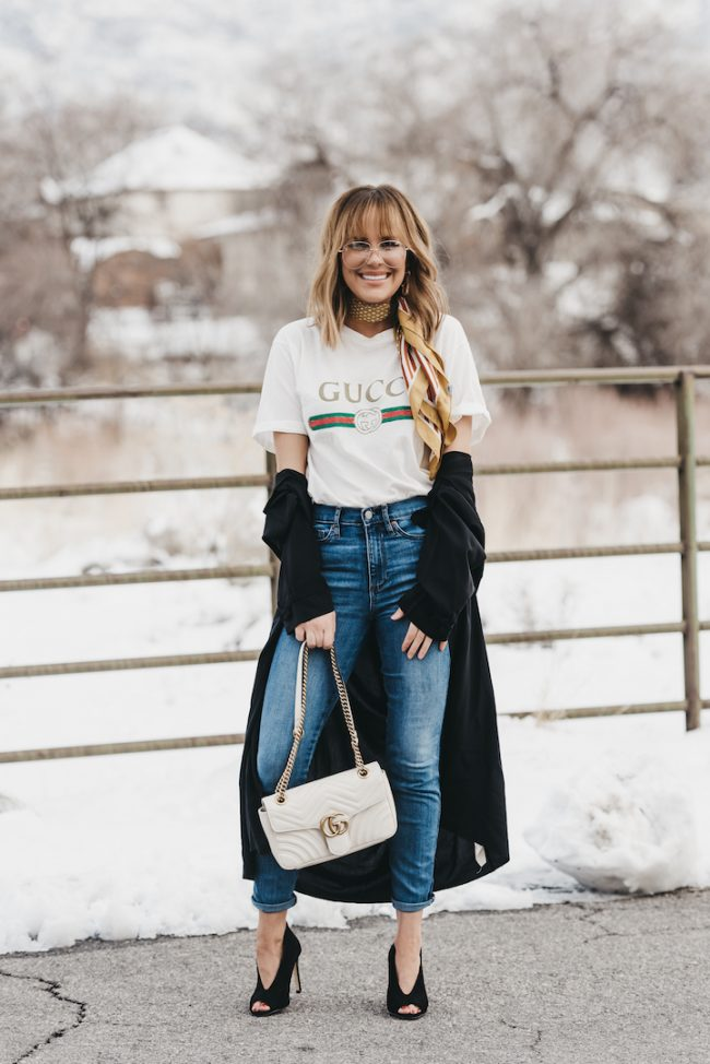 d02f6b02c476 How to wear a vintage gucci logo t-shirt • The Fashion Fuse