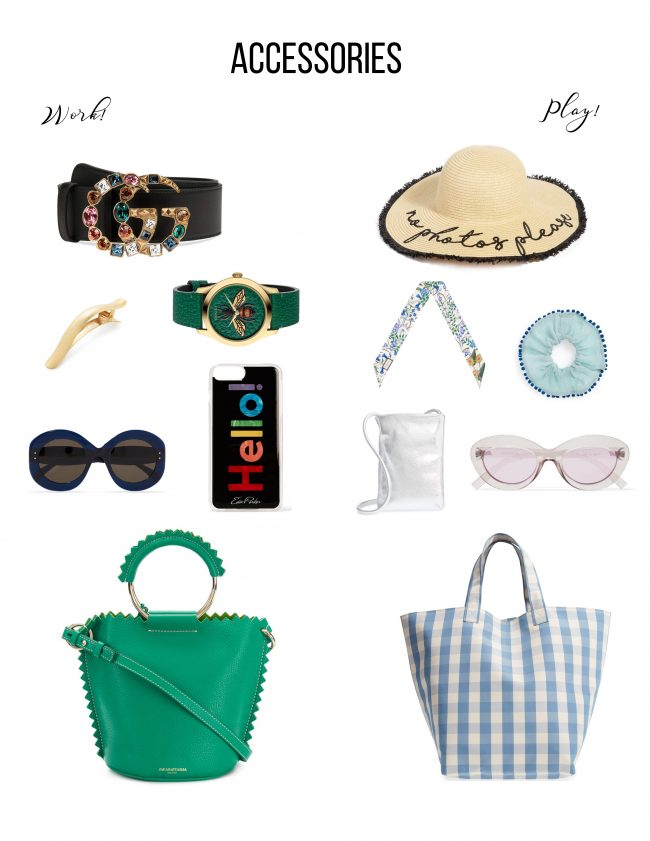 All the Accessories for work or play